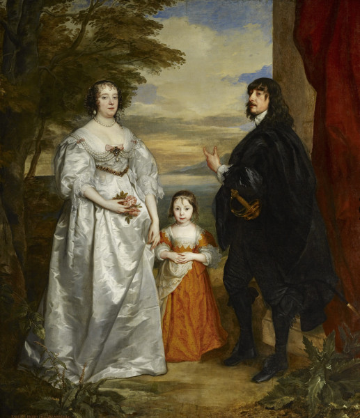 Sir Anthony Van Dyck (1599 - 1641) James, Seventh Earl of Derby, His Lady and Child, 1632-1641 oil on canvas 97 in. x 84 1/8 in. (246.38 cm x 213.68 cm) Henry Clay Frick Bequest. Accession number: 1913.1.40