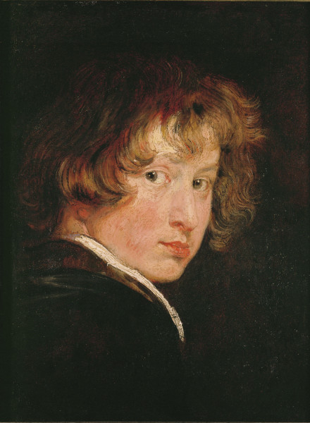 Anthonis van Dyck, self-portrait. Oil on oakwood (1614) 26 x 20 cm Inv. 686