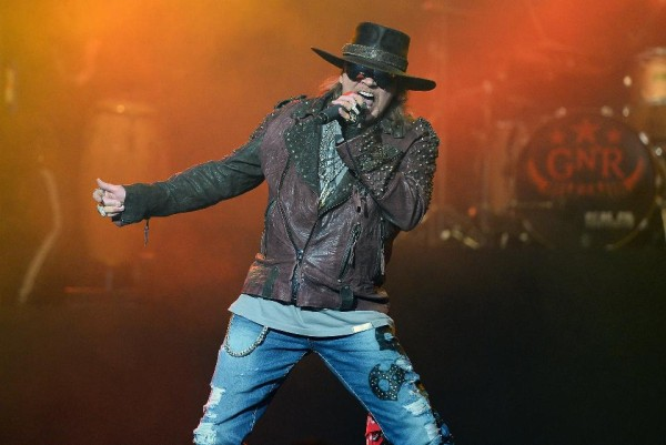 Singer Axl Rose of Guns N' Roses heads to Las Vegas