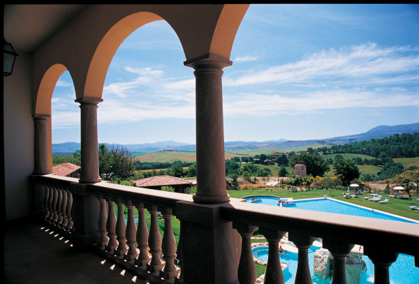 Hotel Adler Thermae makes a great base for exploring Tuscany. Photo credit: Hotel Adler Thermae.