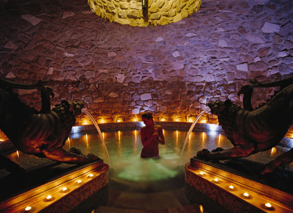 The salt grotto and exotic saunas complement the spa's diverse treatments. Photo credit: Hotel Adler Thermae