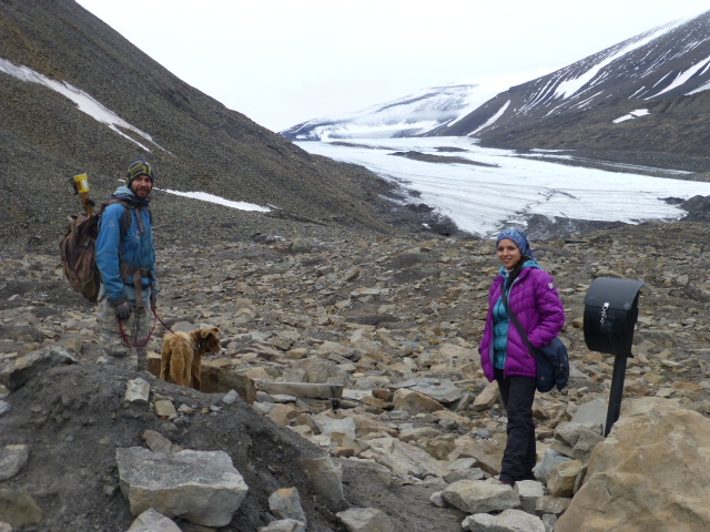Hiking the hills near the Longyearbyen Glacier with Green Dog Svalbard PHOTO Monique Burns