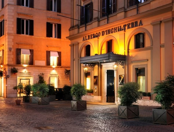 Hotel d'Inghliterra is tucked into a quiet corner of one of Rome's poshest shopping areas. Photo credit: Hotel d'Inghliterra