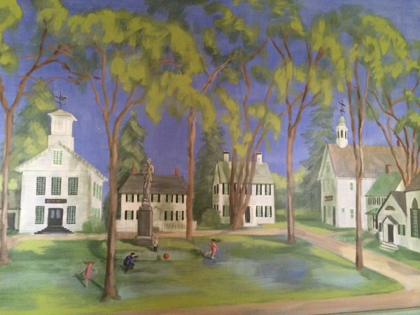 Mural of Castine. Photo Gayle Potter.