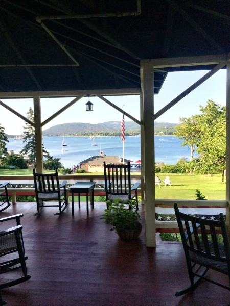 View from the front porch of The Claremont, Southwest Harbor, Maine