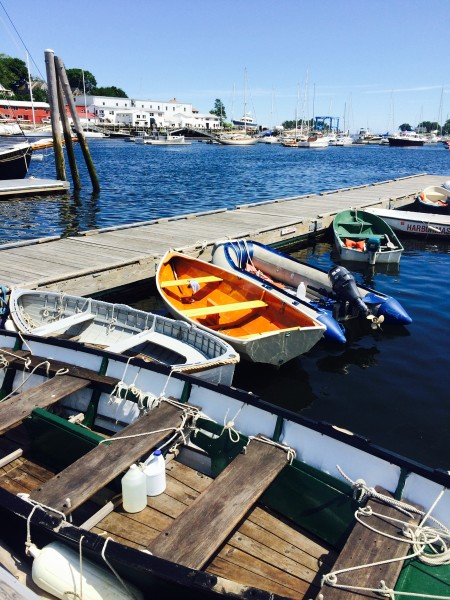 Dinghies in Camden harbor. Photo Gayle Potter