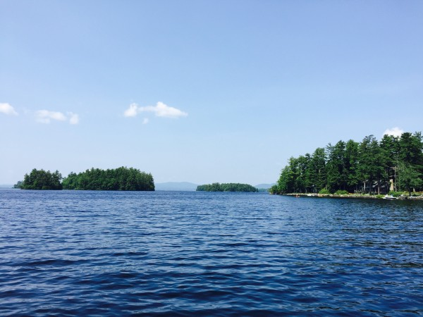 Views of the Dingley Islands on Sebago Lake.