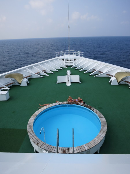 Crystal Serenity bow pool