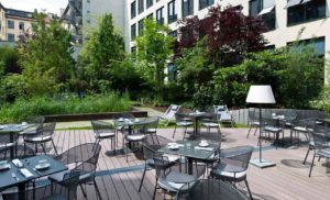 The lush and relaxing courtyard garden. Photo courtesy Hotel i31