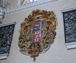 family coat of arms at palacio de villapanes