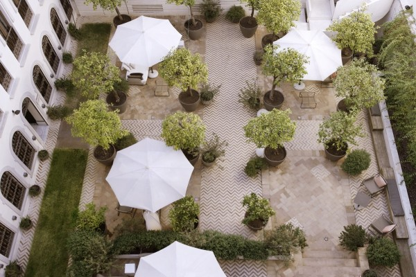 There's often live music in the Courtyard of the Orange Trees.Photo credit: Hotel Palacio de Villapanés
