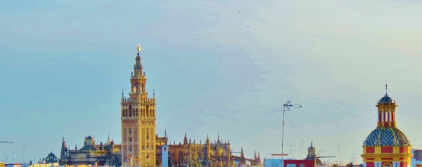 Caption: The hotel's roof terrace affords panoramic views of Seville. Photo credit: Keroack Photography