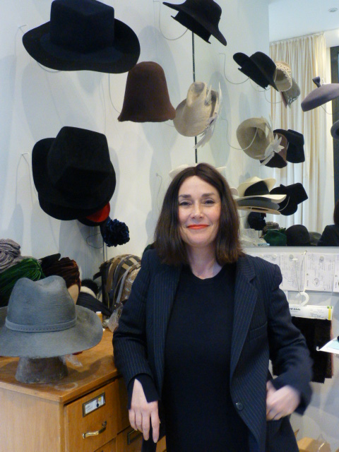 Star milliner Fiona Bennett in her Potsdamerstrasse shop PHOTO Monique Burns
