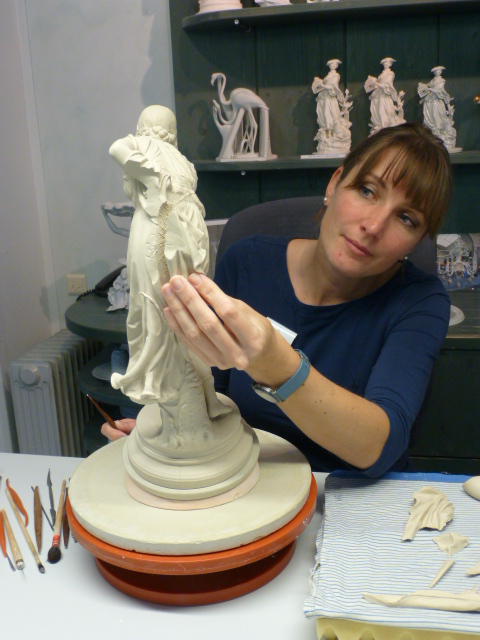At the MEISSEN Manufactory, a young artisan assembles a porcelain figurine. PHOTO Monique Burns
