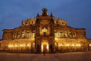 Dresden's Semper Opera House at dusk PHOTO Hans Peter Merten COURTESY German National Tourist Board (GNTB)