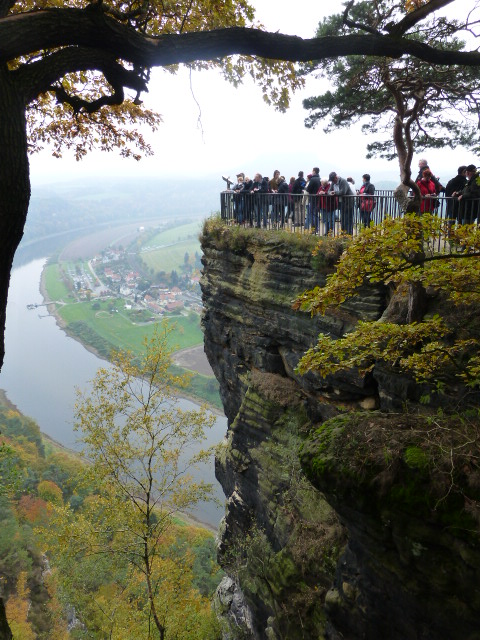 High above the River Elbe, an overlook in Saxon Switzerland national park PHOTO Monique Burns