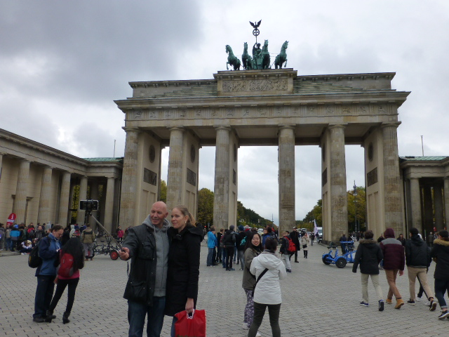 Snapping a selfie at Berlin's iconic Brandenburg Gate PHOTO Monique Burns