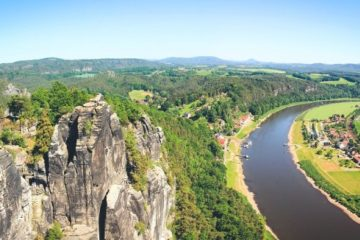 The Elbsandstone Mountains high above the River Elbe PHOTO Karol Werner COURTESY German National Tourist Board (GNTB)