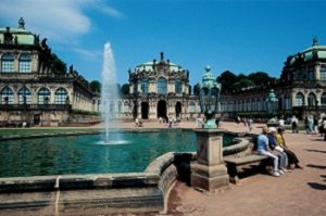 The Zwinger Palace's fountain-dappled courtyard PHOTO Astrid Schwarz