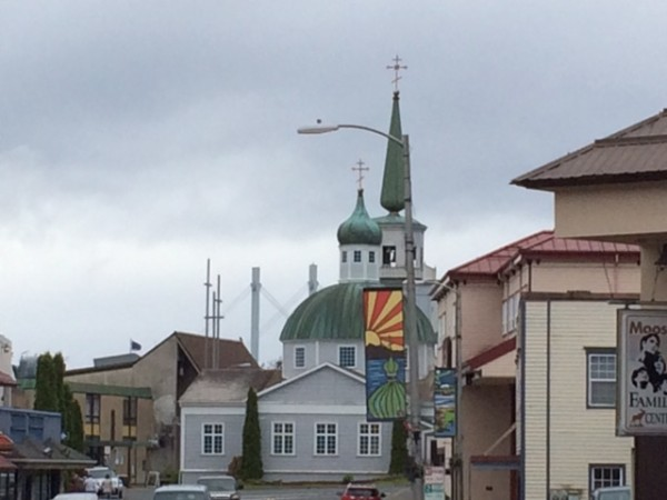 The Sitka skyline showcases its Russian heritage.