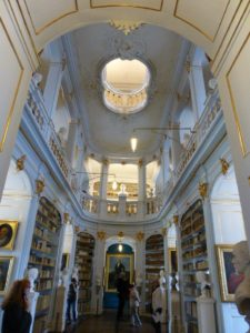 The splendid rococo hall of Weimar's Duchess Anna Amalia Library. Photo Monique Burns.