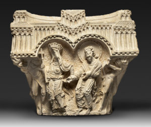 The Virgin and Apostle Capital. Terra Sancta Museum, Basilica of the Annunciation, Nazareth Image: © Marie-Armelle Beaulieu /Custodia Terræ Sanctæ