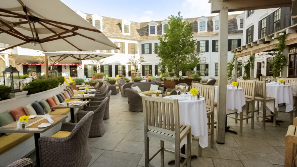 Patio at Artisan Restaurant, The Delamar Southport, CT
