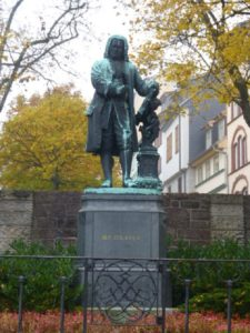 Statue of Johann Sebastian Bach in Eisenach, his birthplace. Photo: Monique Burns.