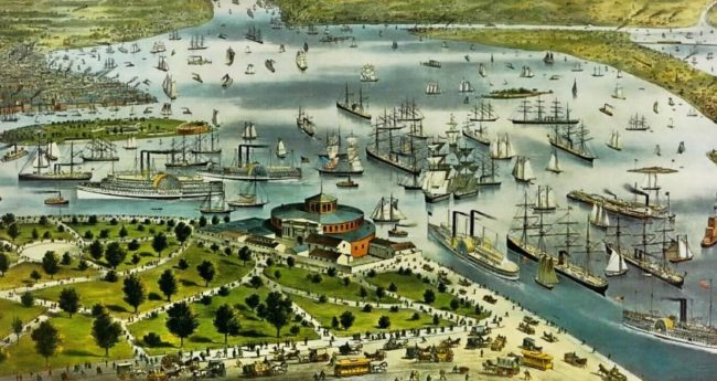 The Port of New York. Currier & Ives. Courtesy Lirary of Congress