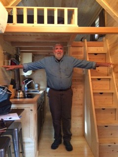 Our Tiny House Lincoln was arm-span-wide
