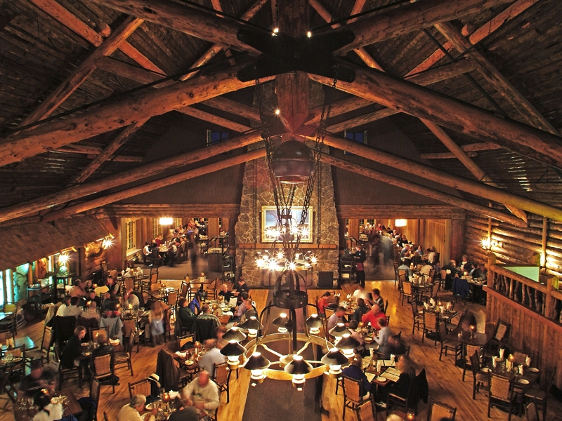 Roosevelt Lodge Dining Room Yellowstone Roosevelt Tower